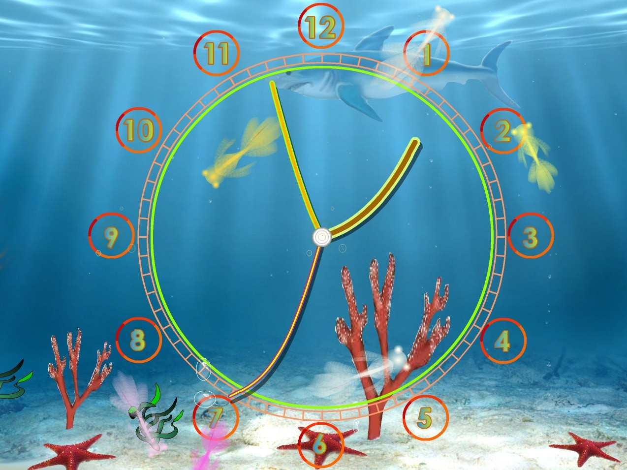 Aquarium Clock Live Animated Wallpaper   Even aquarium fishes want to 1274x955