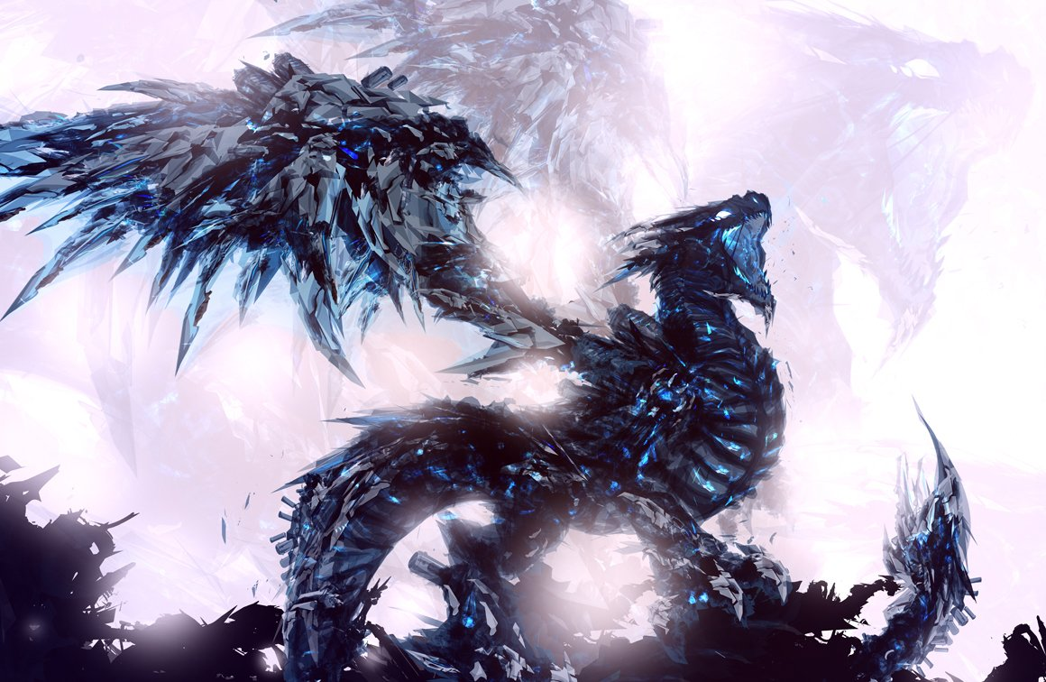 Coldfire reborn work final ChaseJC dragon wallpaper ice crystal glass 1160x756