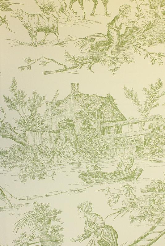 de Loir Toile Wallpaper Pastoral scenic Toile de Jouy wallpaper 534x796