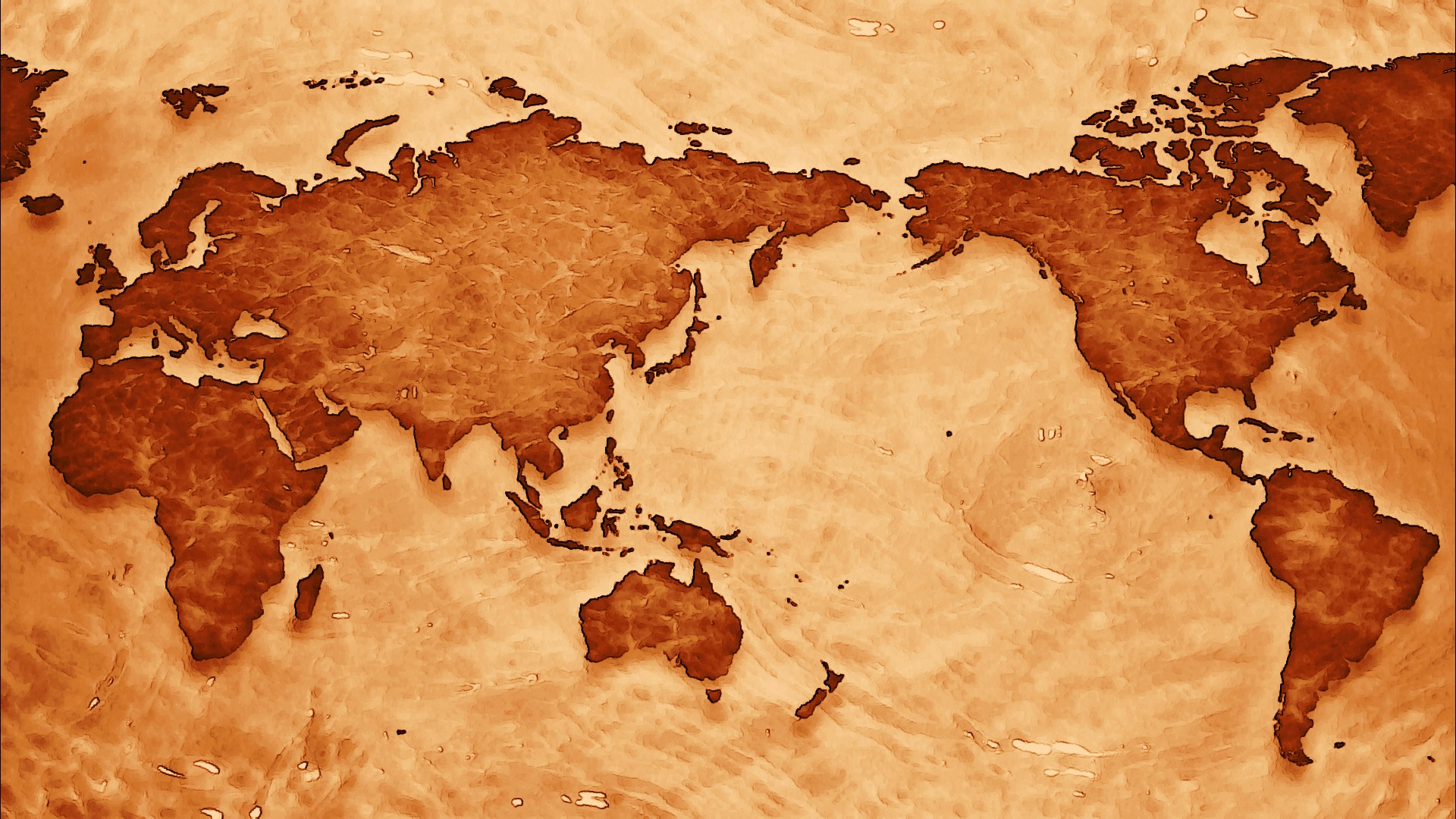 Old World Map Wallpaper 1920x1080
