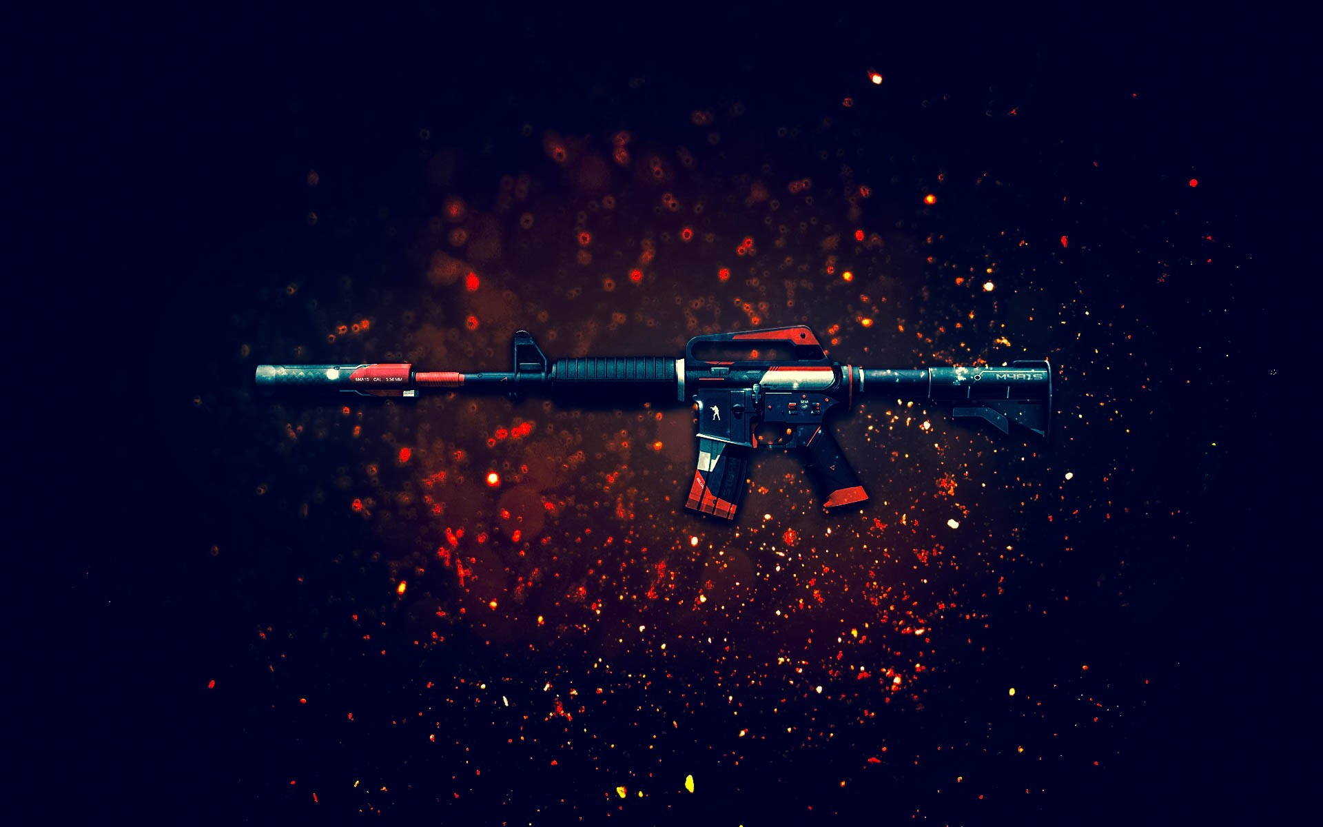 Wallpaper assault rifle weapon csgo background wallpapers 1920x1200