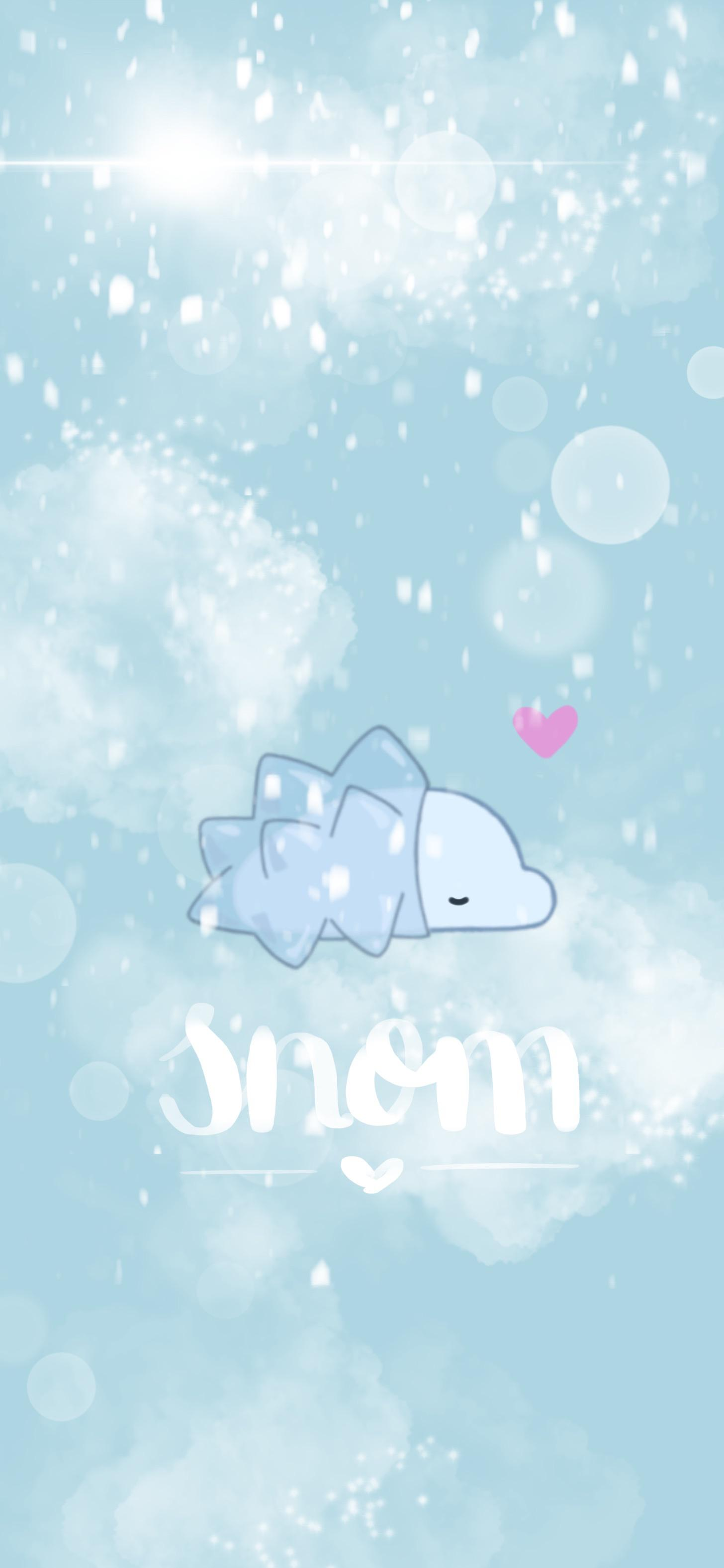 A snowy snom for my phone background this winter or forever 1456x3153