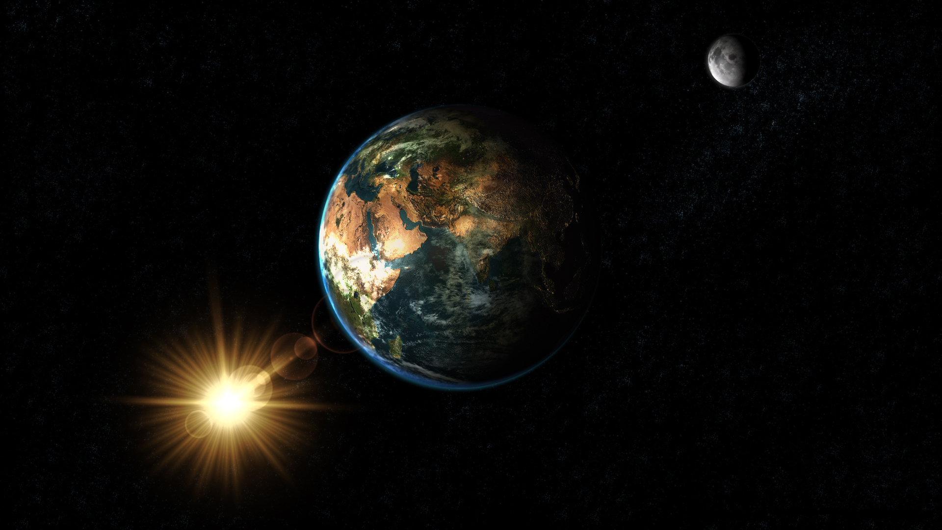 Sun Moon and Earth NASA   Pics about space 1920x1080