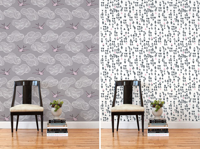 Removable Wallpaper Tiles Renters rejoice The wallpapers you see 645x480