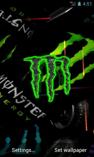 View bigger   Monster Energy Live Wallpaper for Android screenshot 307x512