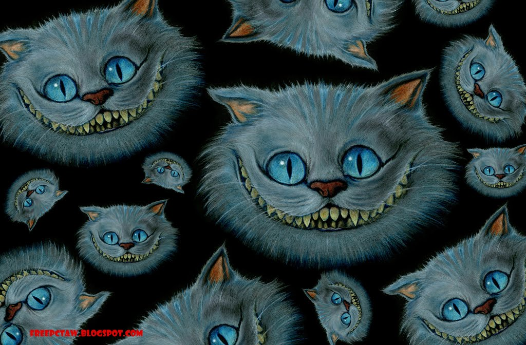 Wallpaper FreePCTaW Exclusives Tim Burtons Cheshire Cat Wallpapers 1024x672