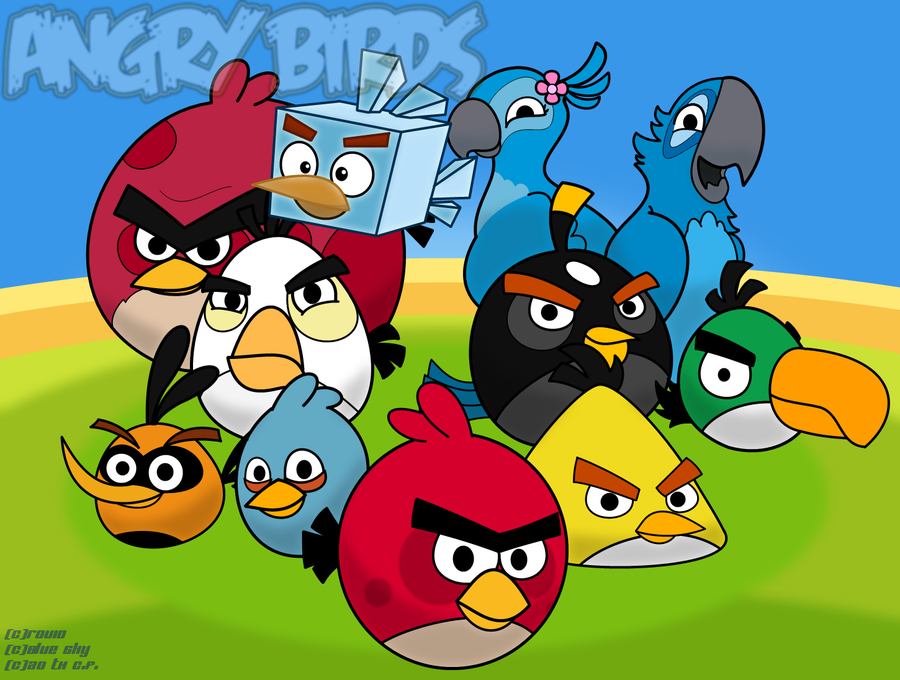 Angry Birds Wallpaper v2 by Coonstito 900x680