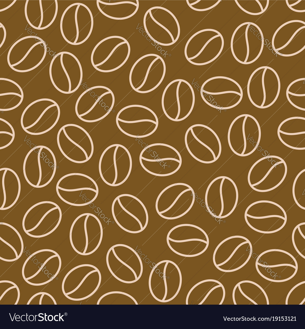 Coffee beans seamless pattern background Vector Image 1000x1080