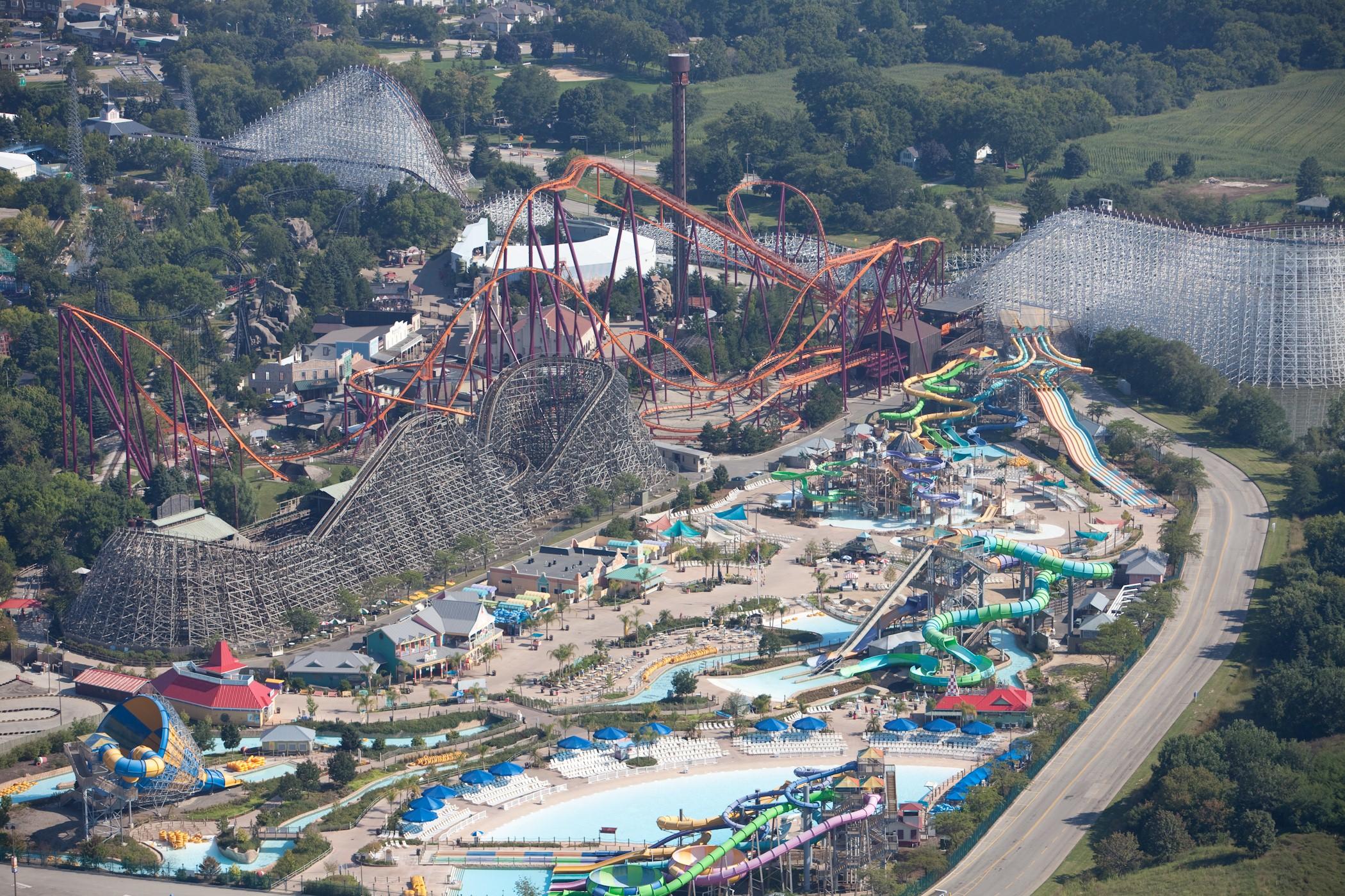 Six Flags America Beautiful Theme Park in Largo Marylan HD Tourist 2100x1400