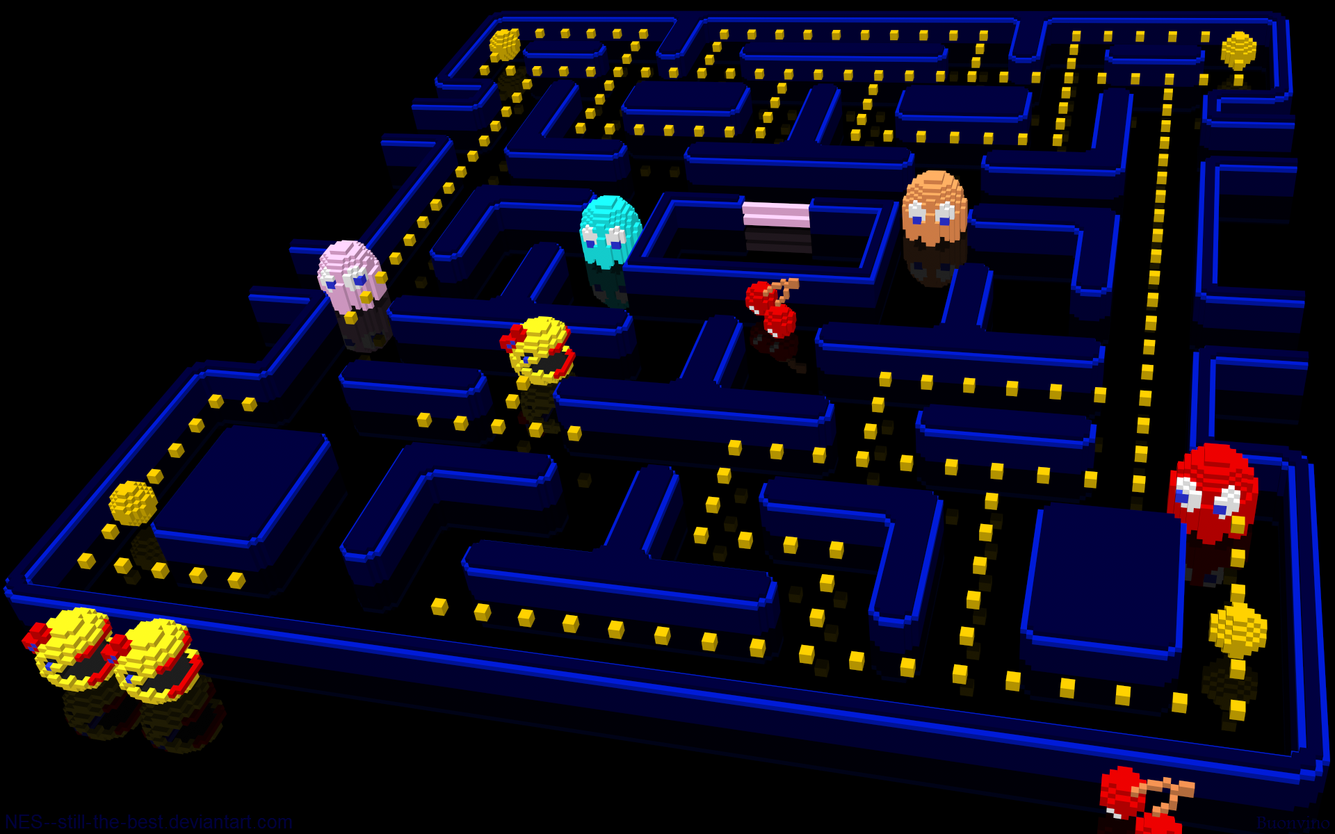 3D Ms Pac Man by NES  still the best 1920x1200