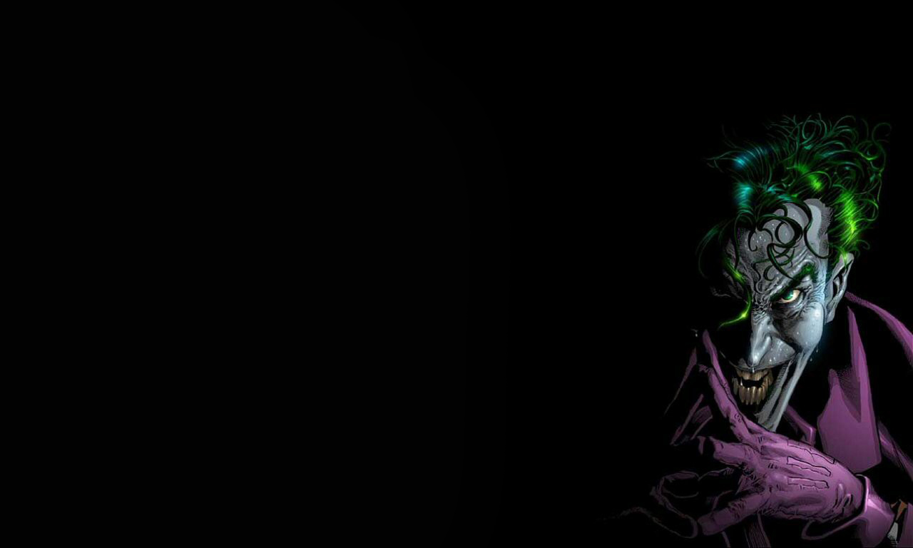 The Joker Comic Wallpaper Hd 1280x768