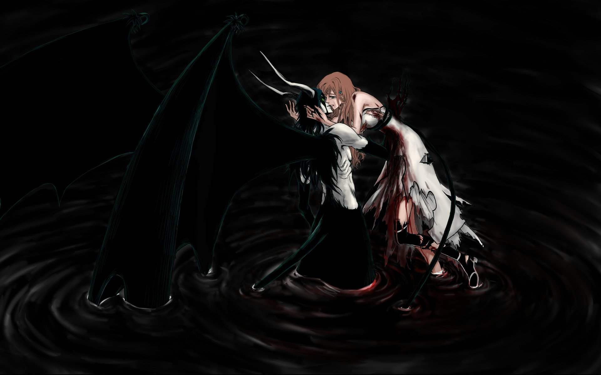76 romantic anime wallpapers on wallpapersafari - Wallpaper dark anime ...
