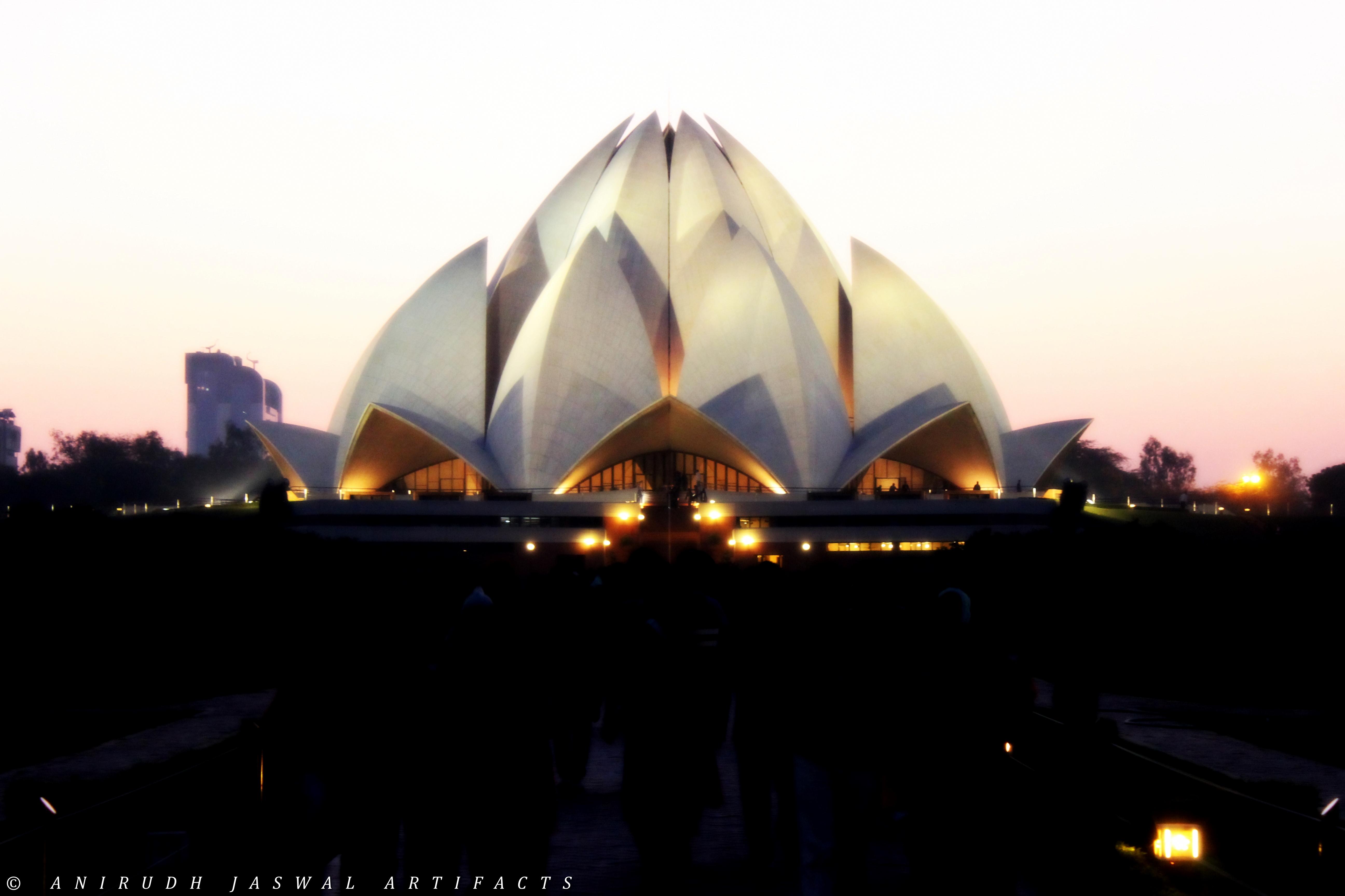 Incredible India Lotus Temple Desktop and mobile wallpaper 5184x3456