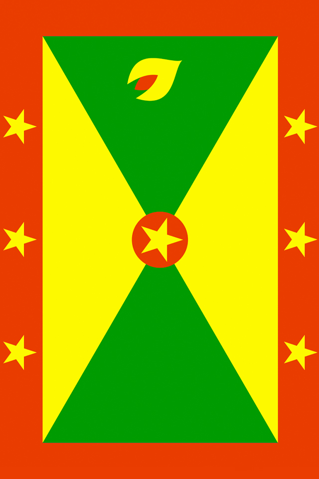 Grenada Flag iPhone Wallpaper HD 640x960