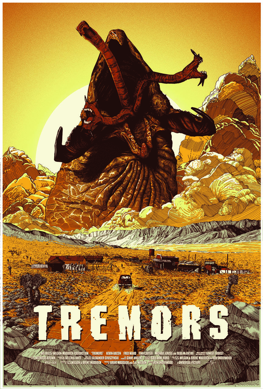Tremors 1990 HD Wallpaper From Gallsourcecom Movie posters 864x1279