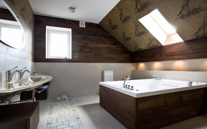 Bathroom wallpaper ideas designs patterns 665x415