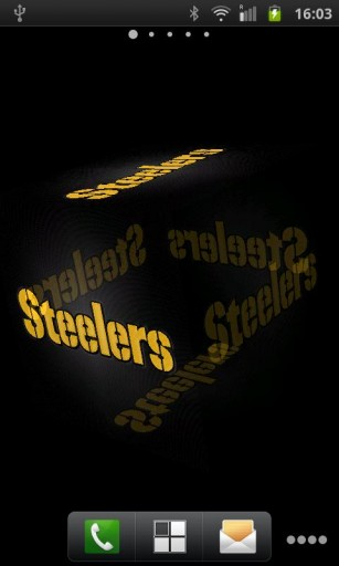 live wallpaper which bring 3D Pittsburgh Steelers Logo into your 307x512