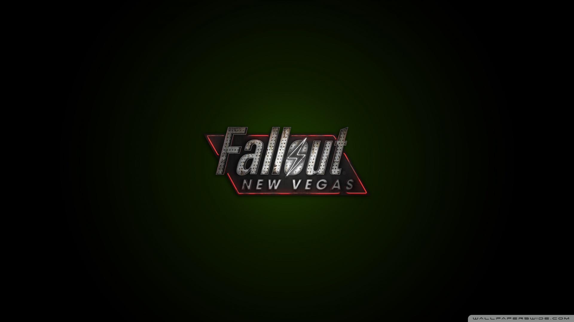 Fallout New Vegas Logo Green Wallpaper 1920x1080 Fallout New Vegas 1920x1080