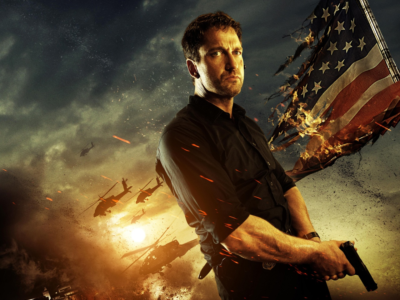 Gerard Butler in Olympus Has Fallen Wallpapers HD Wallpapers 1280x960