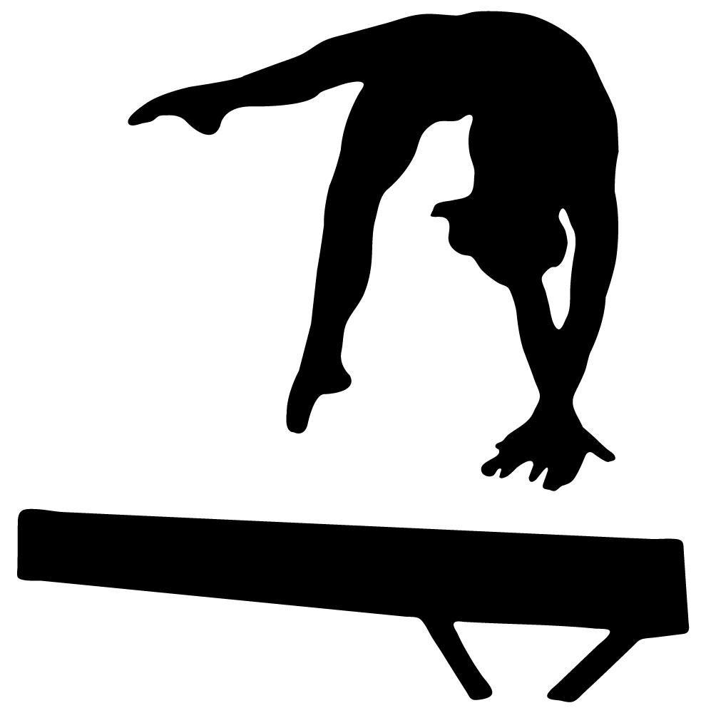 Gymnastics Silhouette Leap Clipart Panda Clipart Images 990x1000