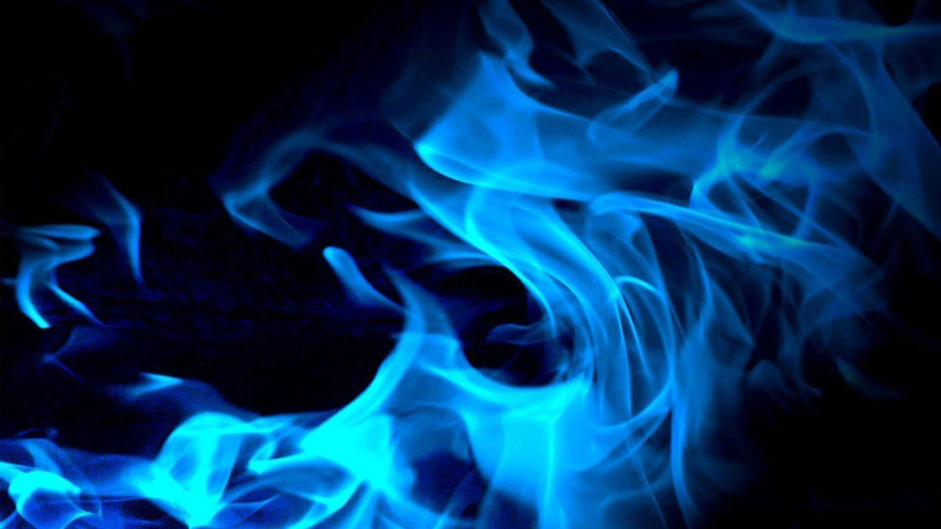 Blue Flame Wallpapers 1366x768