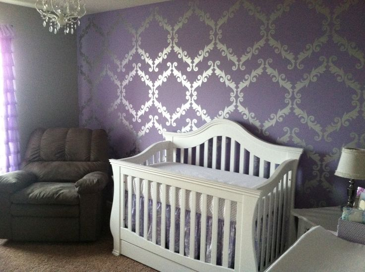 Nurseries Cots Purple Baby Girls Nurseries Purple Wallpapers Baby 736x549