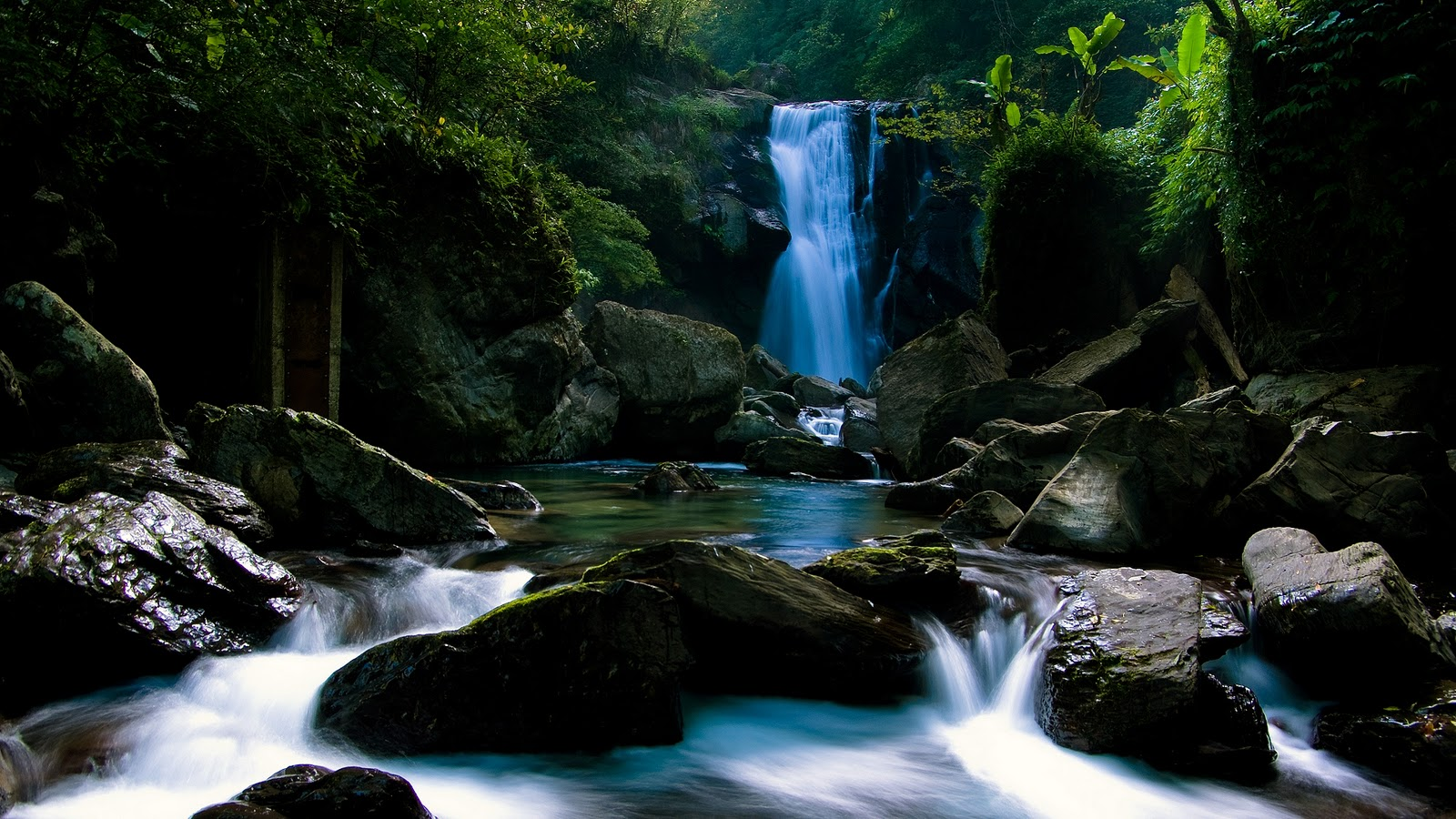 Waterfall River Stones Wild HD Wallpapers Epic Desktop Backgrounds 1600x900