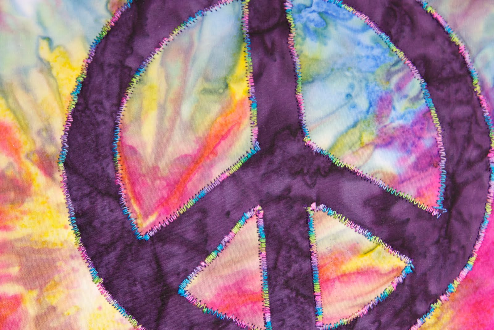 tried some new techniques the peace sign is reverse applique and I 1600x1067