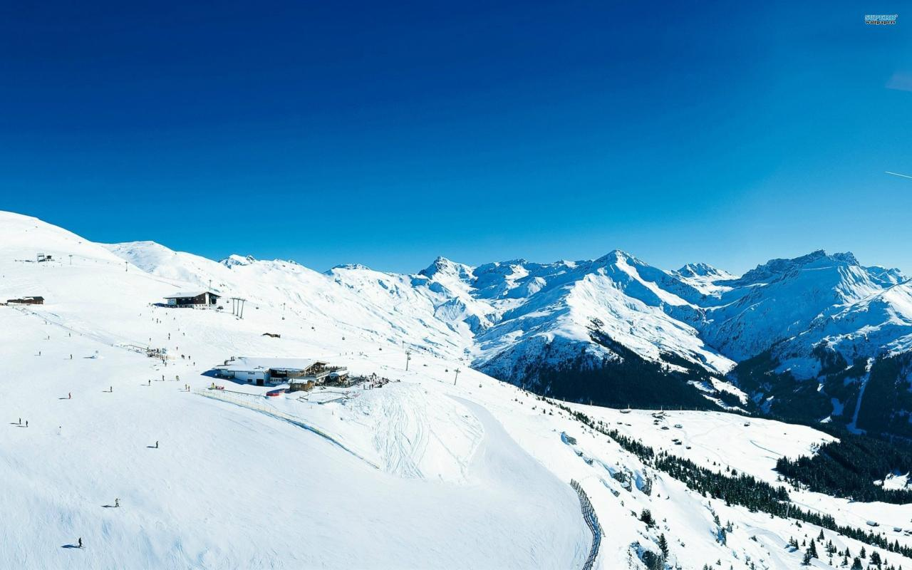 Mountains ski switzerland hdr photography resort wallpaper 22164 1280x800