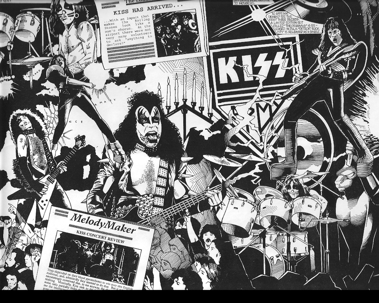 Free rock band kiss wallpapers wallpapersafari - Rock wallpaper ...