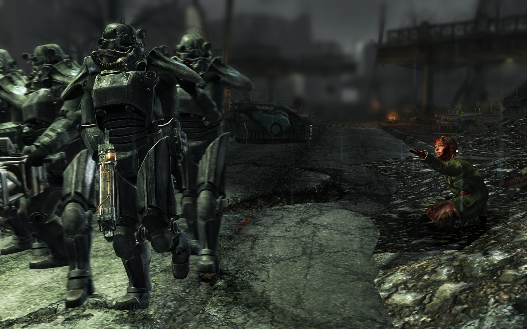 Group Of Bos Fallout 3 Desktop Wallpaper