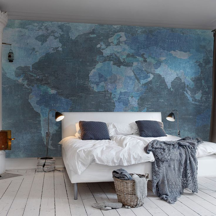 World Map Wallpaper   Rebel Walls Things For Home Pinterest 736x736