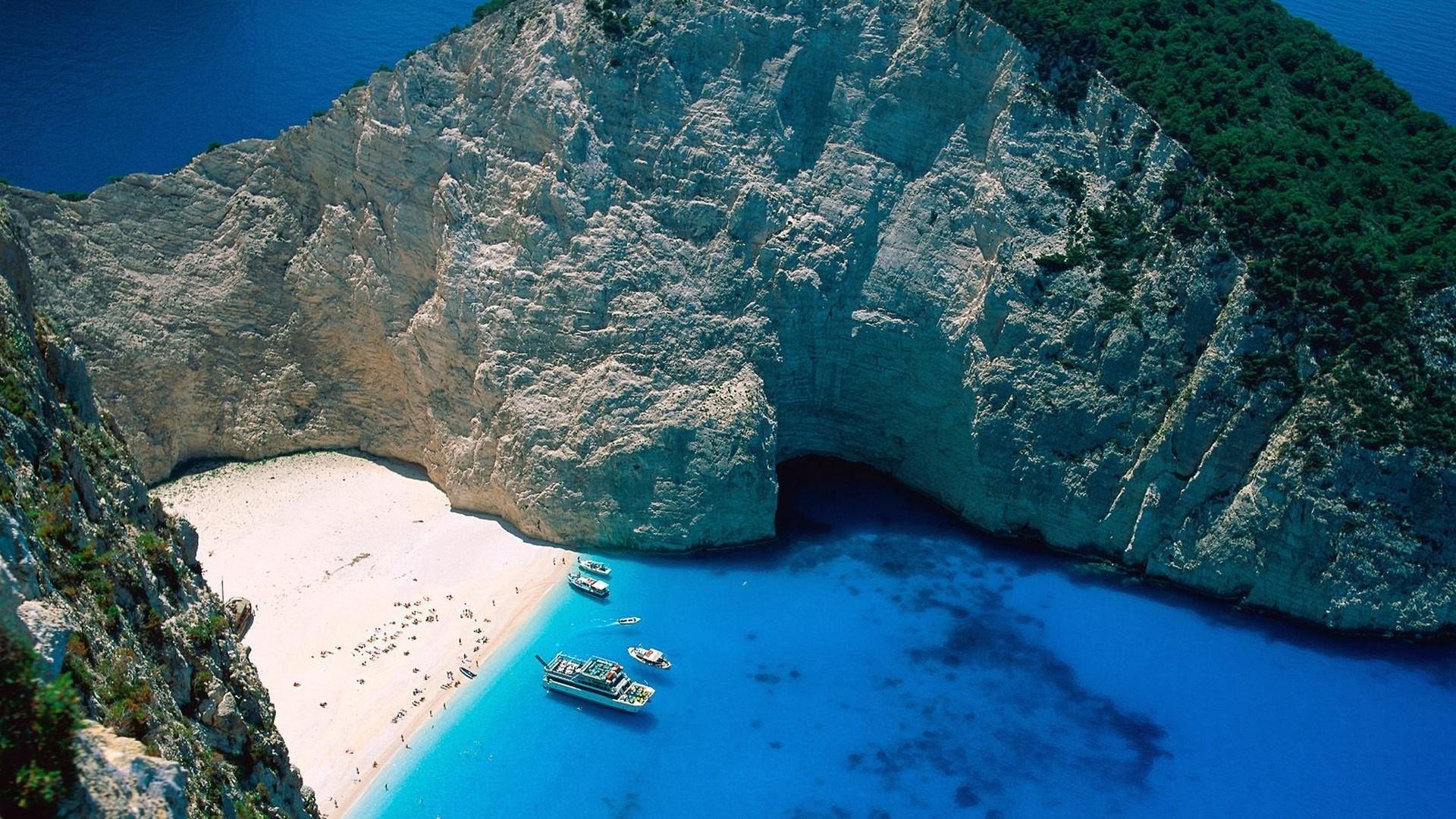 Greece zakynthos islands ships wallpaper 1499 1920x1080