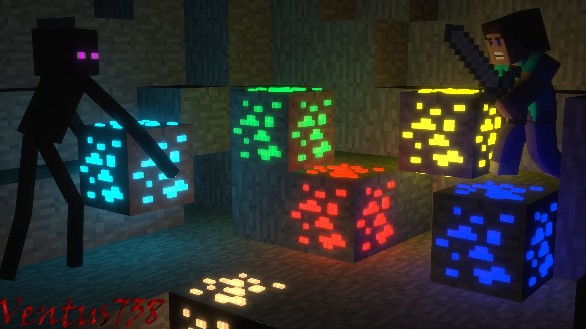 Displaying 14 Images For Minecraft Animation Wallpaper 1920x1080