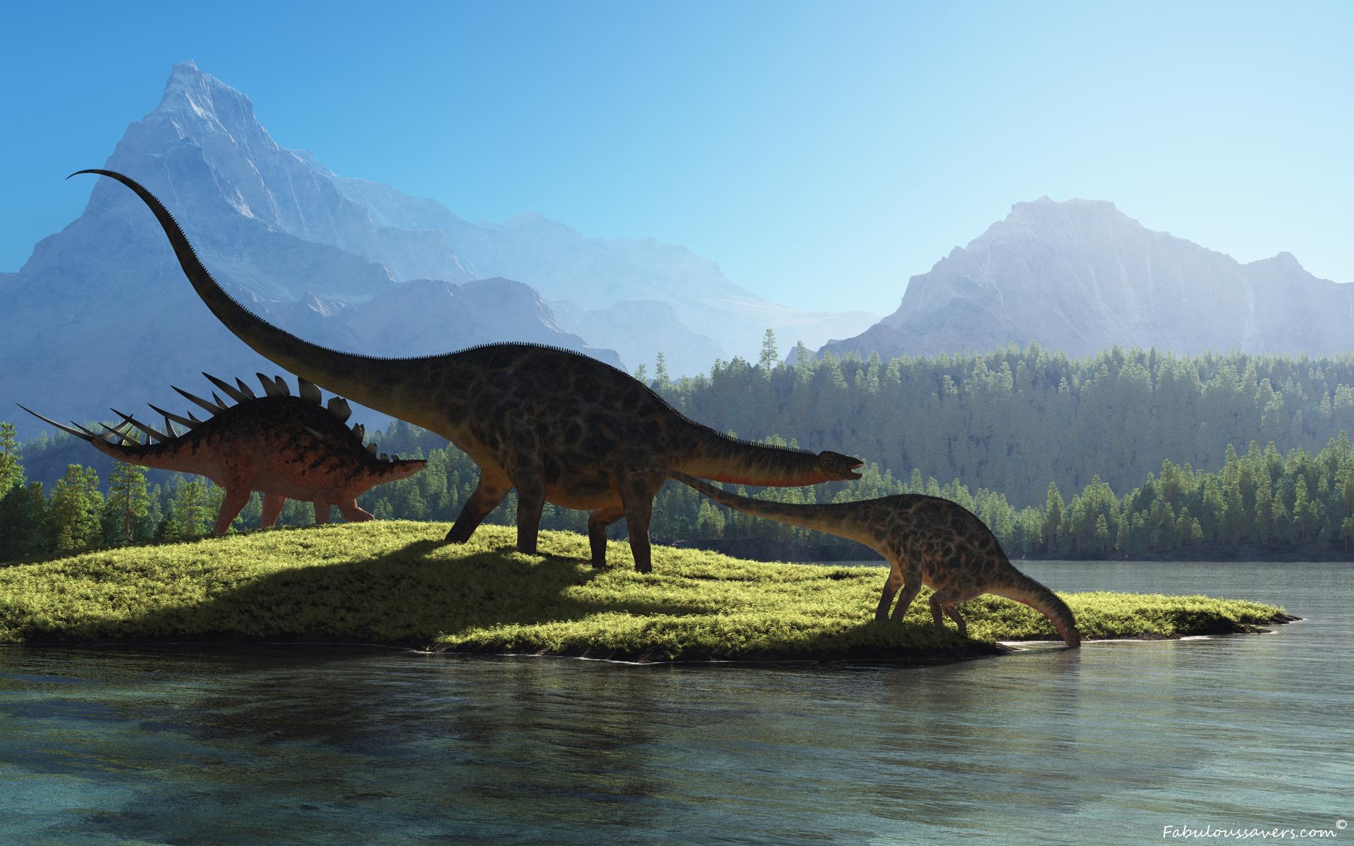 Prehistoric Dinosaurs 160 pieces jigsaw puzzle 1920x1200