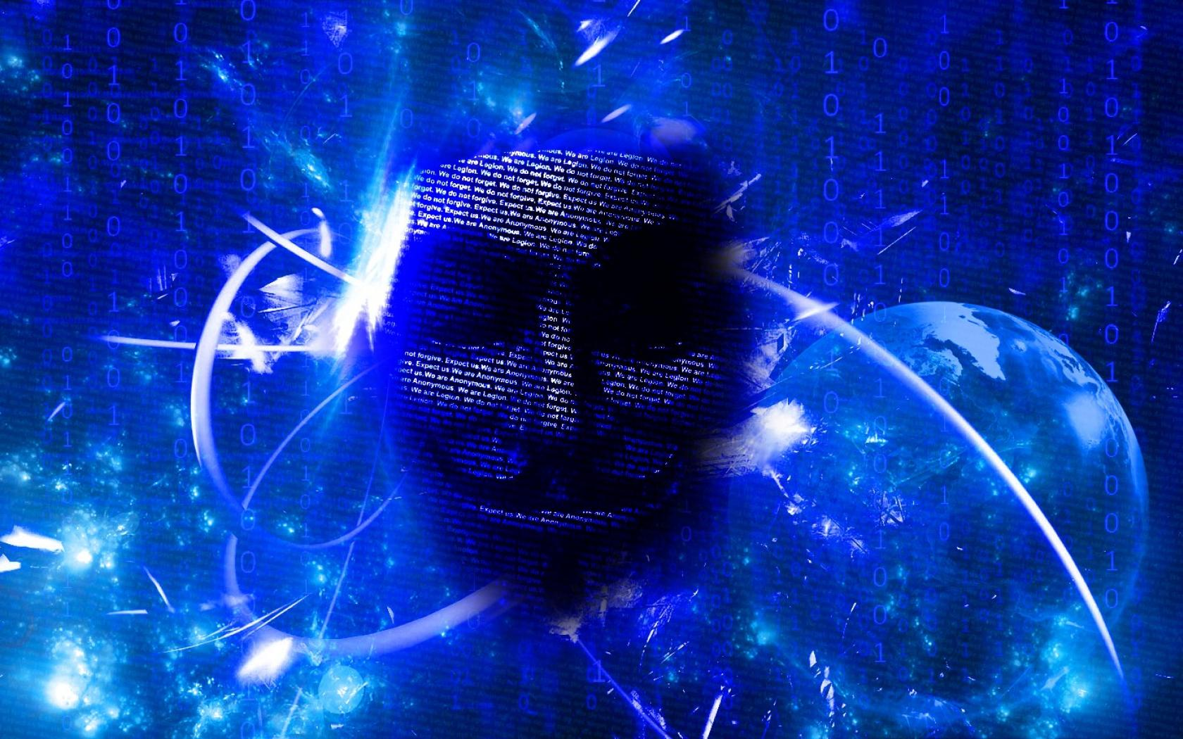 Abstract blue anonymous matrix binary code wallpaper 38462 1680x1050