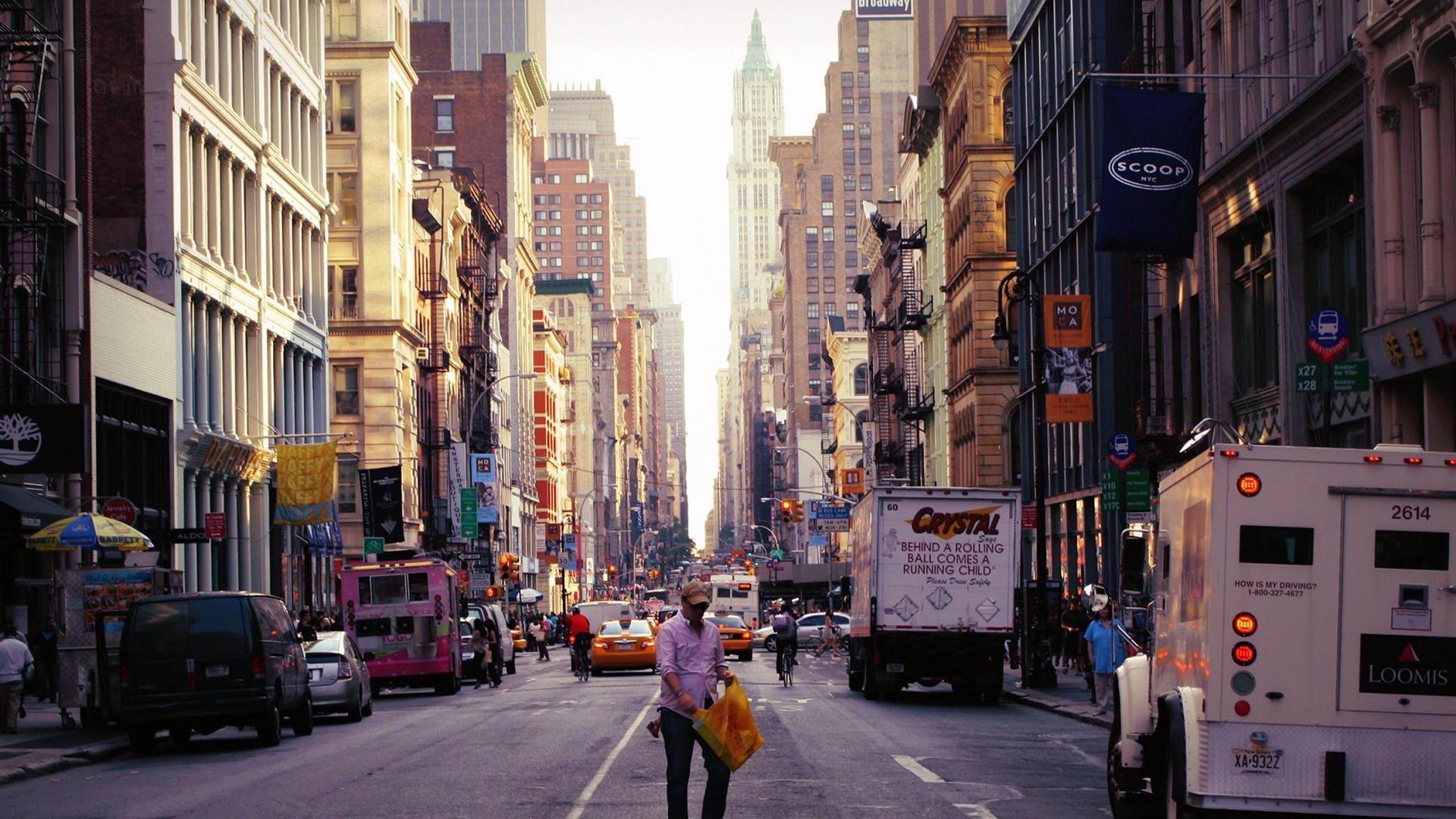 New York City Street Wallpaper - WallpaperSafari City Street Photography