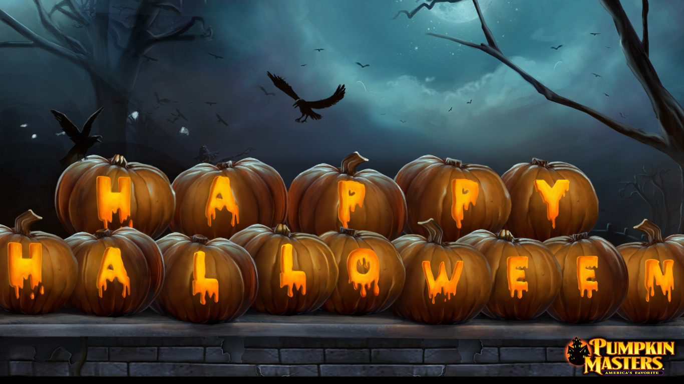free halloween wallpaper happy halloween pumpkins 1366768 Grant A 1366x768