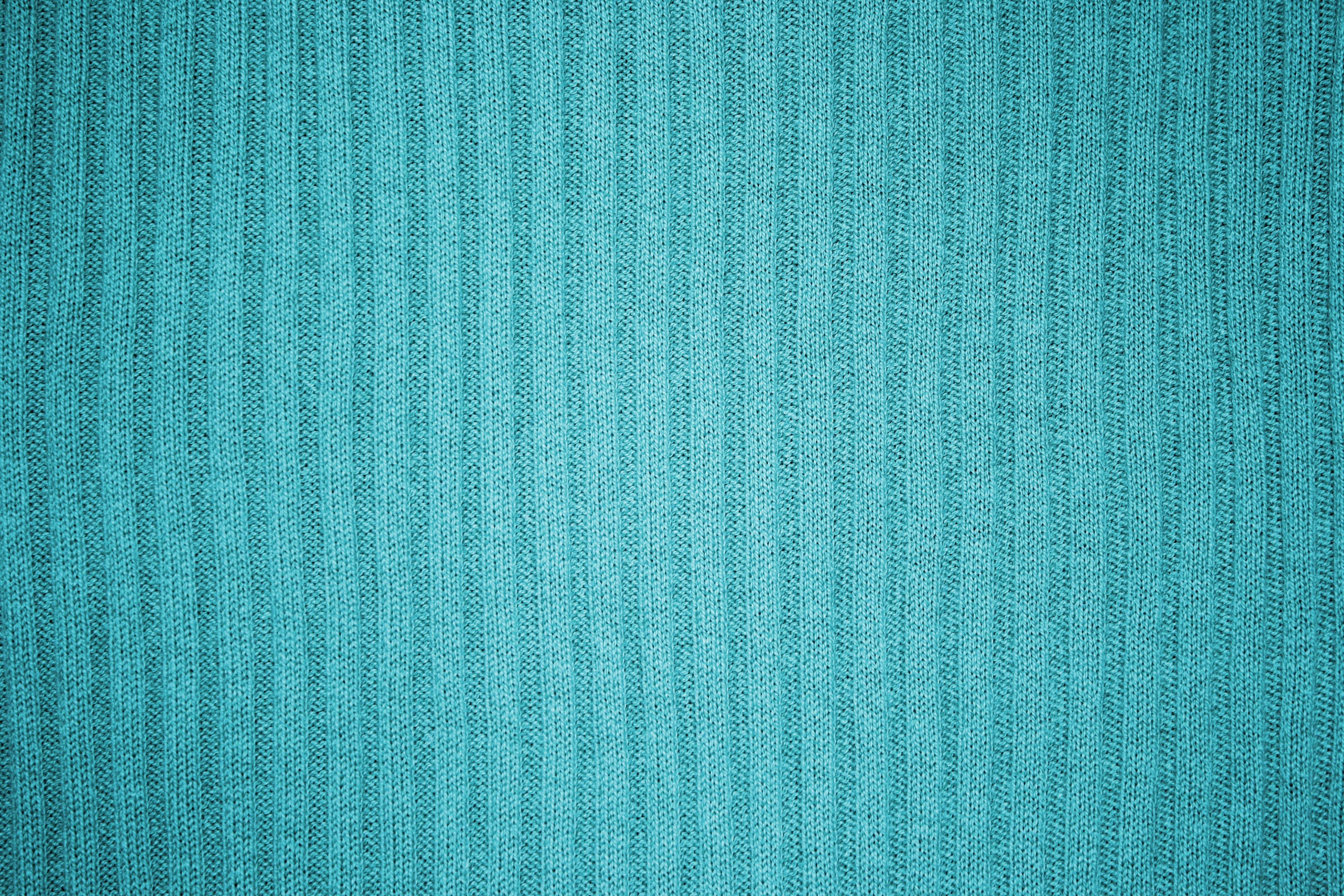 Teal or Turquoise Ribbed Knit Fabric Texture Picture Photograph 3888x2592