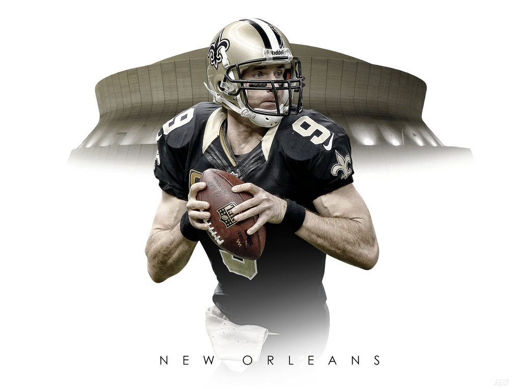 Drew Brees Superdome Wallpaper Saints 1024x762