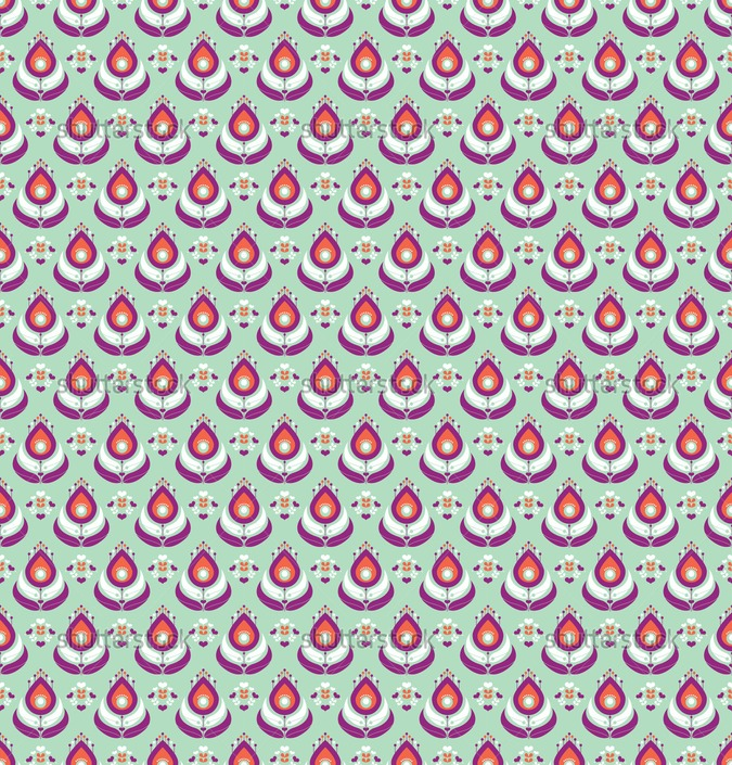 Mint And Coral Background Seamless mint and coral colored peacock 675x705