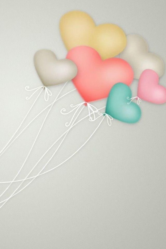 hd cute color balloons iphone 4 wallpapers backgrounds By www 640x960