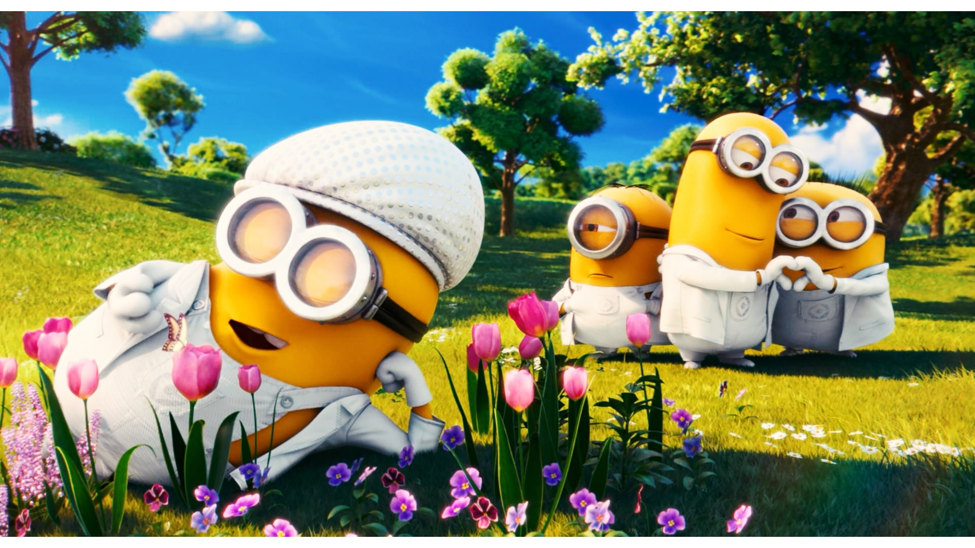 Download Romantic Minions Love Family Wallpapers Get and Search 1920x1080