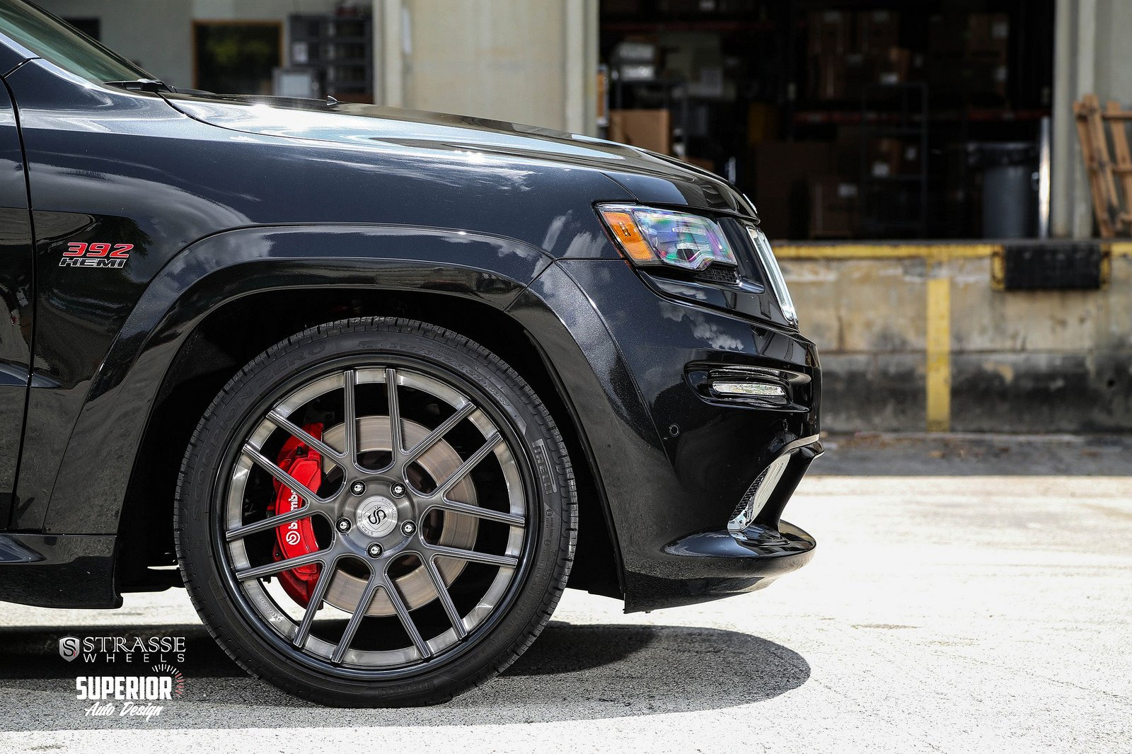 jeep grand cherokee srt8 Strasse Wheels tuning cars black wallpaper 1600x1066