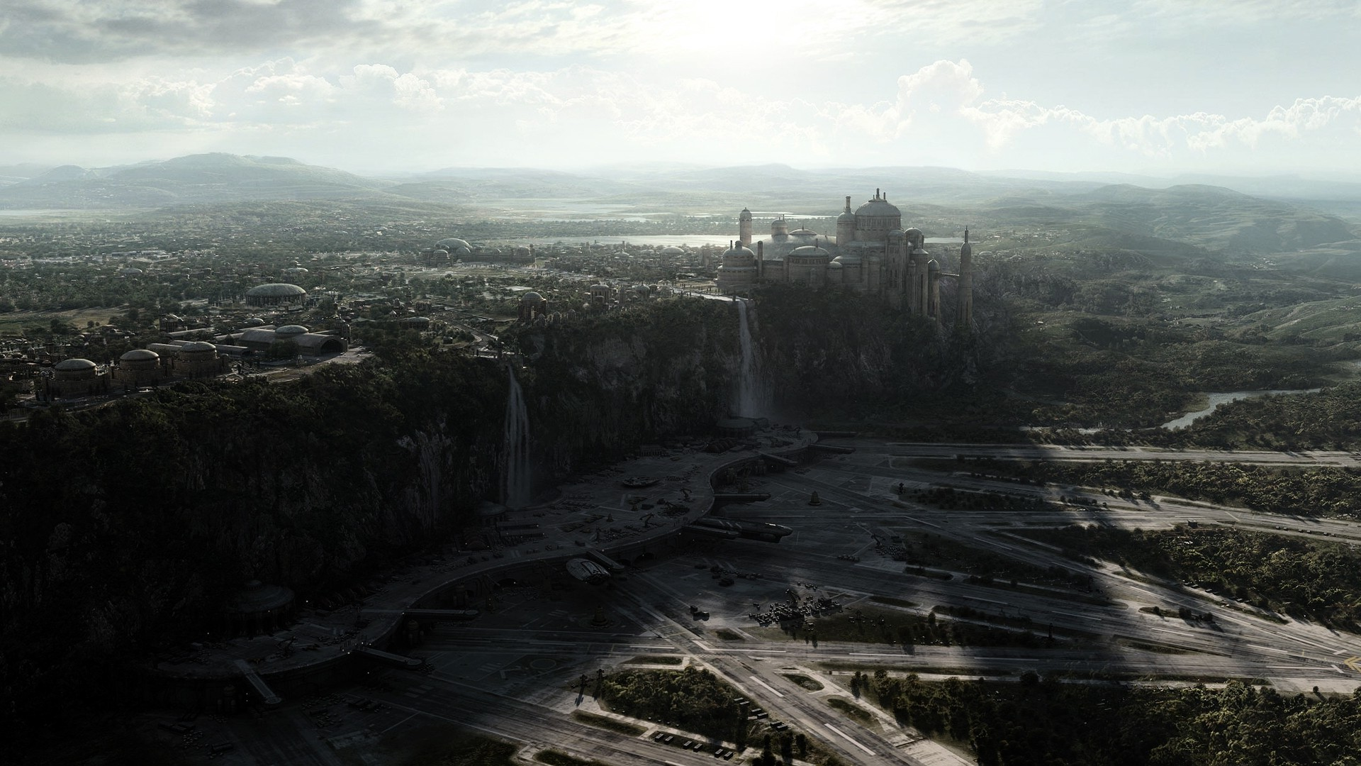 Theed Star Wars Naboo Spaceport Wallpapers HD Desktop and 1920x1080