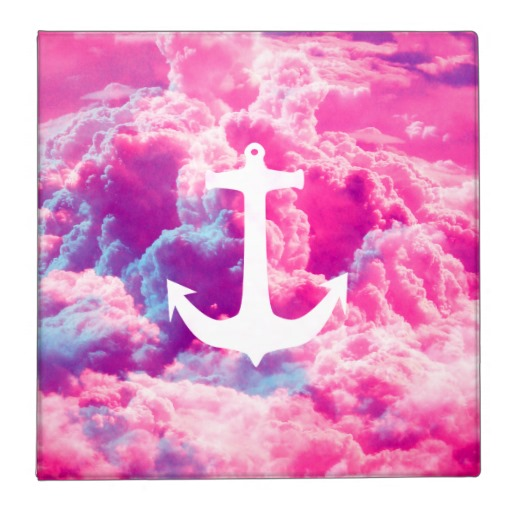 Cute Colorful Anchor Wallpaper Girly nautical anchor bright 512x512