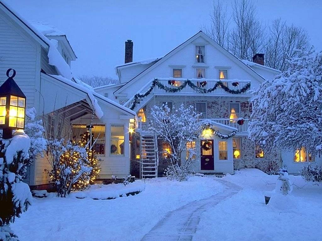 Home Holidays Christmas Winter Backgrounds Desktop 1024x768