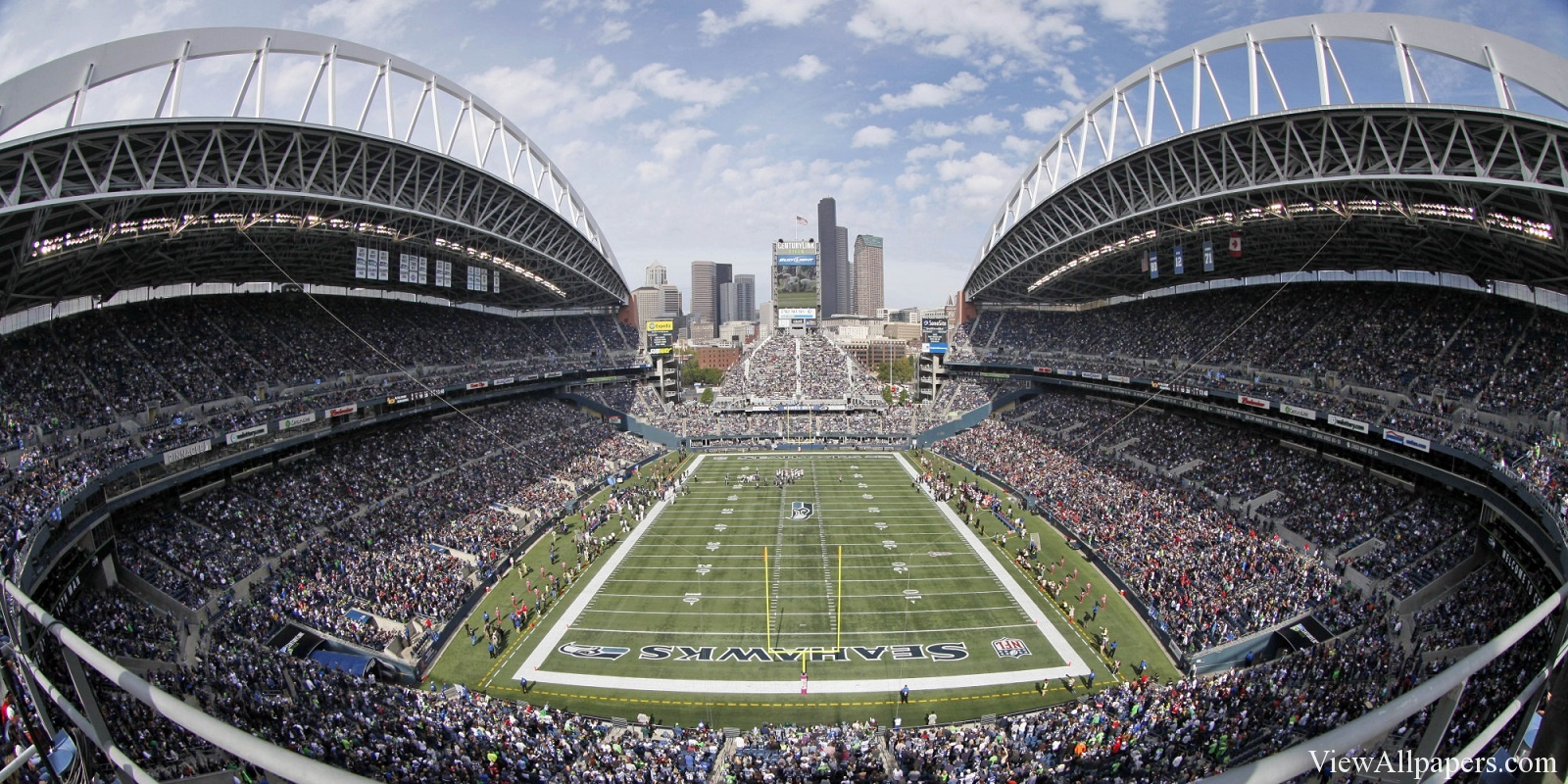 HD Resolution Wallpaper download Seattle Seahawks Stadium For PC 1600x800
