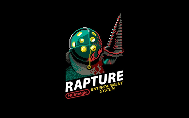 bioshock rapture retro games nes 8bit game Video Games Bioshock HD 800x500