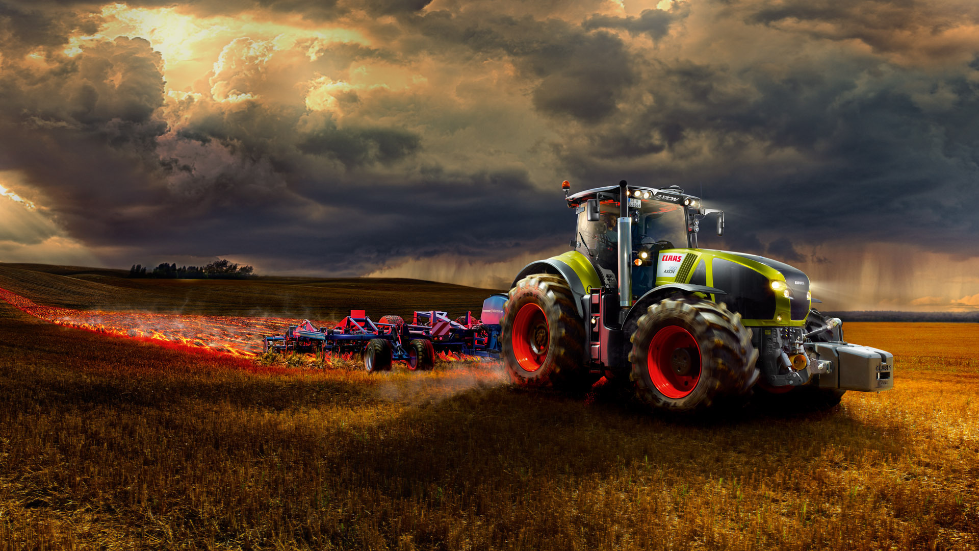 Farm Tractor... Harvest Background Images